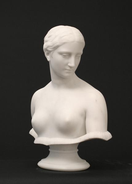 BUST OF THE GREEK SLAVE, Modeled c. 1845-46 Marble...