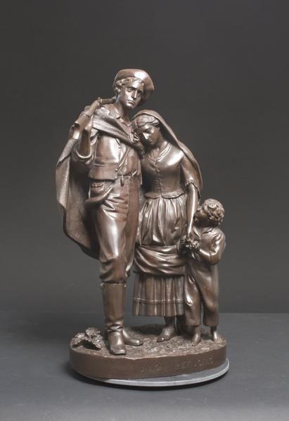 UNION REFUGEES, 1863 Bronze 20 3/4 x 13 1/4 x 10 1...