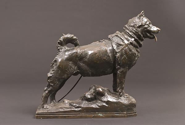 BALTO, 1926  Bronze 14 1/2 x 17 5 3/4 inches...