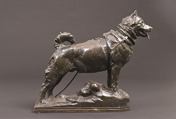 BALTO, 1926 Bronze 14 1/2 x 17 5 3/4 inches...
