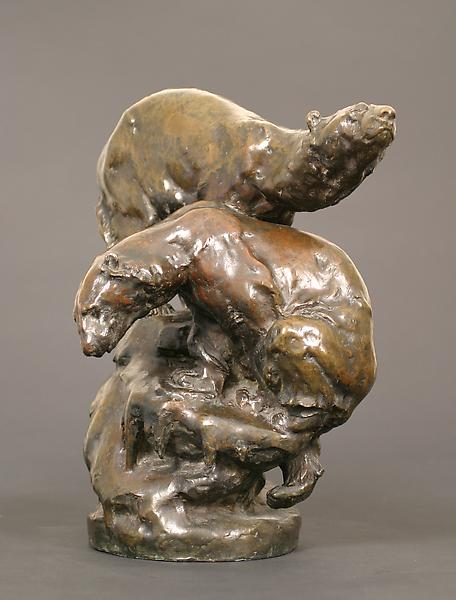 POLAR BEARS, 1910 Bronze 16 x 14 x 9 1/2 inches Si...