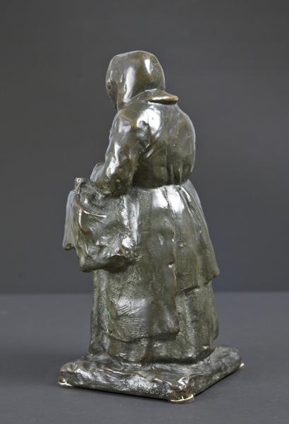 ROSE, THE ORGAN GRINDER, 1914 Bronze 13 x 6 x 6 1/...