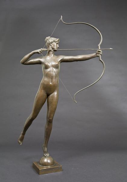 DIANA, 1895 Bronze 39 1/4 x 26 1/4 x 17 inches Sig...