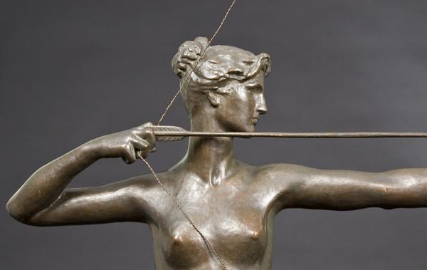 DIANA, 1895 Bronze 39 1/4 x 26 1/4 x 17 inches Sig...