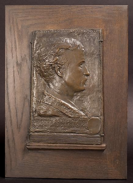 FRANCIS DAVIS MILLET, 1879 Electrotype with bronze...