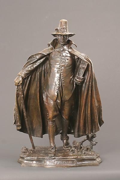 THE PURITAN, 1883-86 Bronze 30 1/2 x 18 1/2 x 13 i...