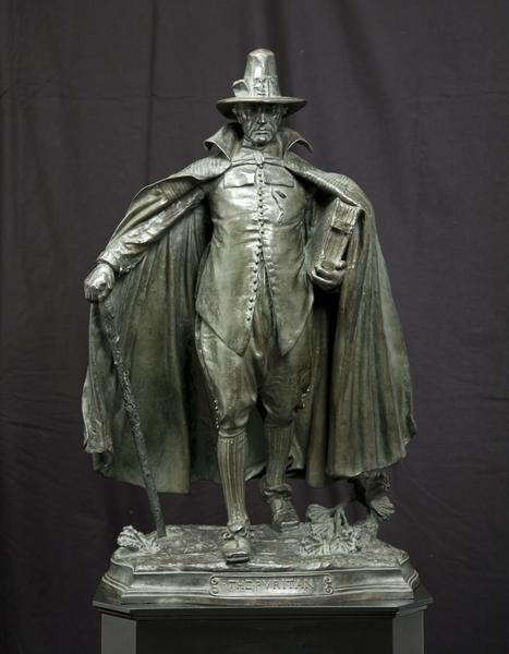THE PURITAN, 1883-86 Bronze 30 1/2 x 19 1/2 x 12 3...