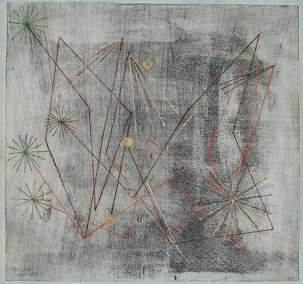 UNTITLED WITH THREE YELLOW DOTS, c. 1935 Monotype...