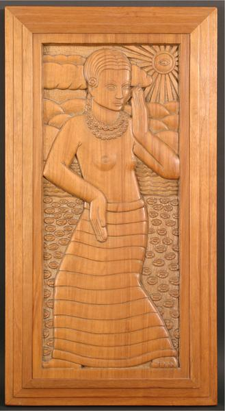 DANCER, 1932 Tupelo wood 27 x 14 1/4 x 1 3/4 inche...