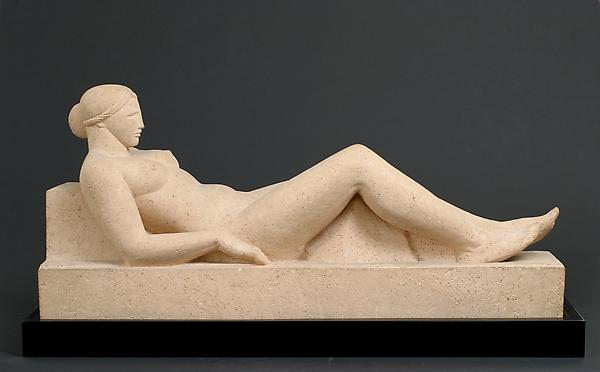 DIANA (also RECLINING NUDE), modeled 1927; this ve...