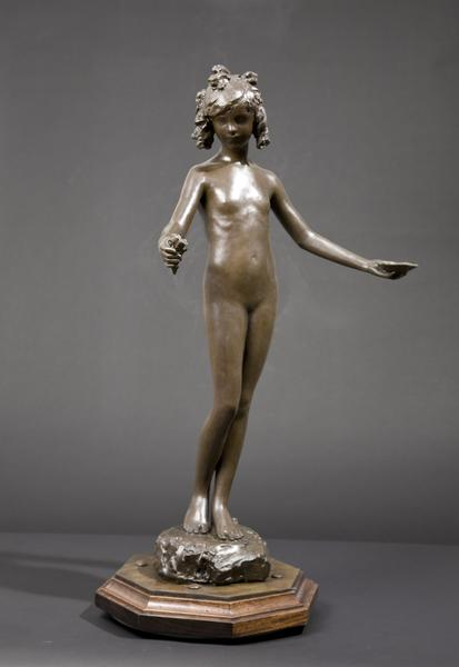 SPRINGTIME OF LIFE: A FOUNTAIN, c. 1925 Bronze on...