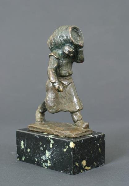 BEER BARREL, c. 1905 Bronze 6 x 3 3/4 x 2 1/2 inch...