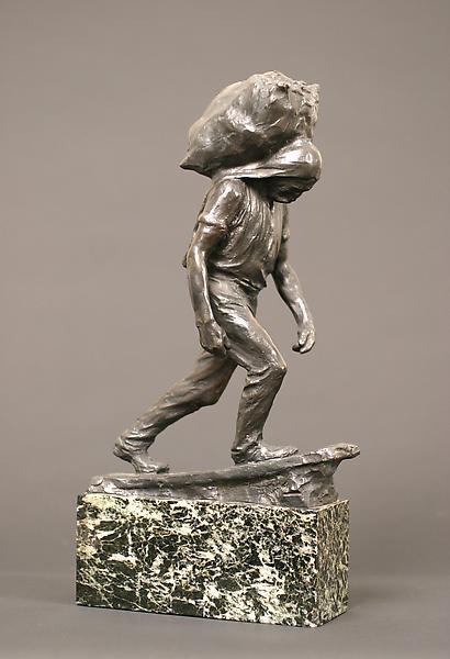 STEVEDORE (also COAL CARRIER), 1904 Bronze on orig...