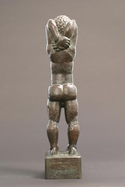 YOUNG BOY (TESSIM), 1921 Bronze 22 x 5 1/8 x 5 inc...
